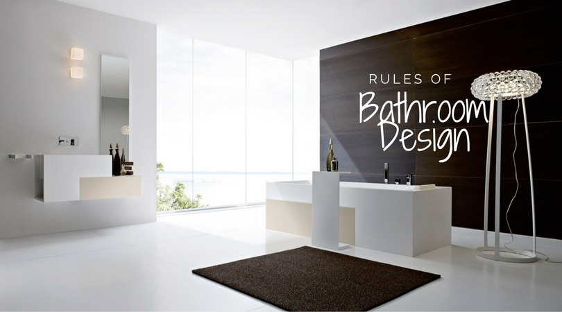 Rules of bathroom design build for Rules of good bathroom design