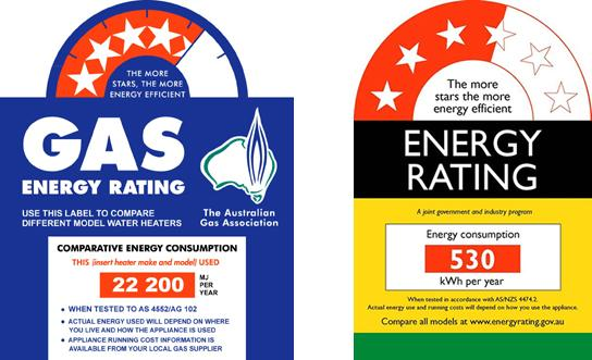 Energy efficiency ratings for hot water build for Energy saving hot water systems