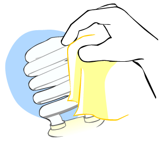 How to clean light globes