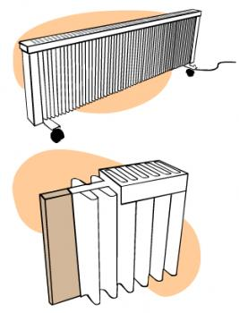 Off-peak storage heater (or heat bank)