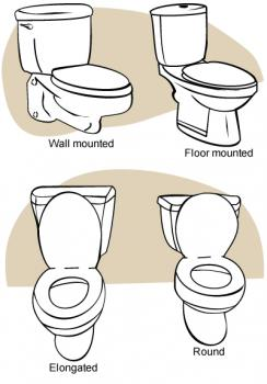 Toilet bowl types
