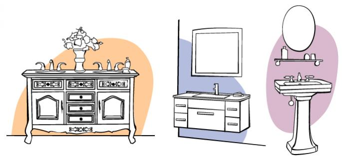 Types of vanity cabinets