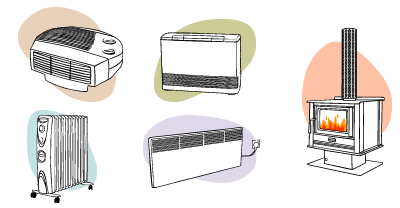 Different heater types