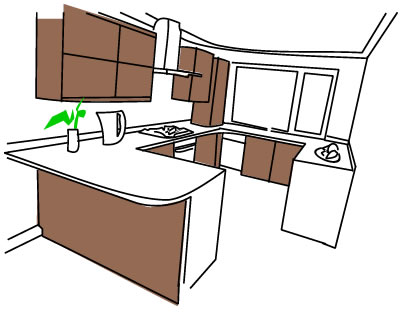 How much bench space in kitchens