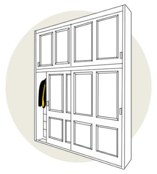 How to choose wardrobe doors