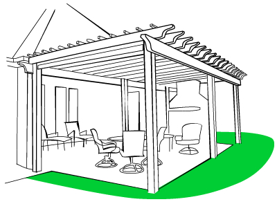 Shade your home with a pergola