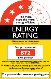 Energy ratings and labels for tvs build 5 star energy