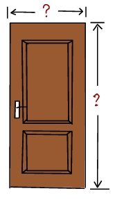 Door sizes and dimensions