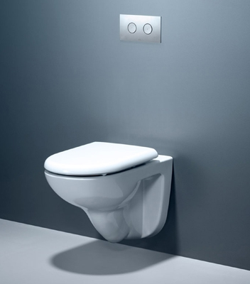Concealed cistern saves space, and opens up a range of creative