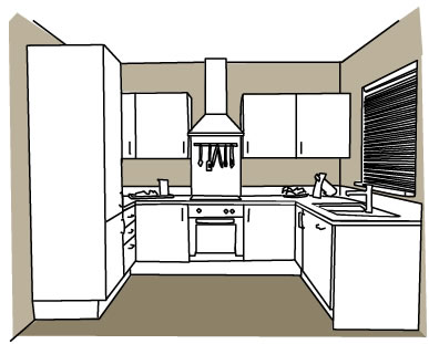 U shaped kitchens build for Kitchens u build