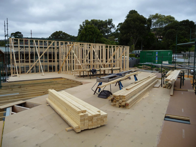 How a house frame is erected
