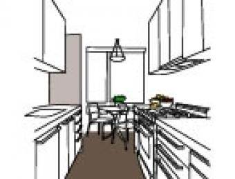 Single wall kitchens build for Single wall galley kitchen designs