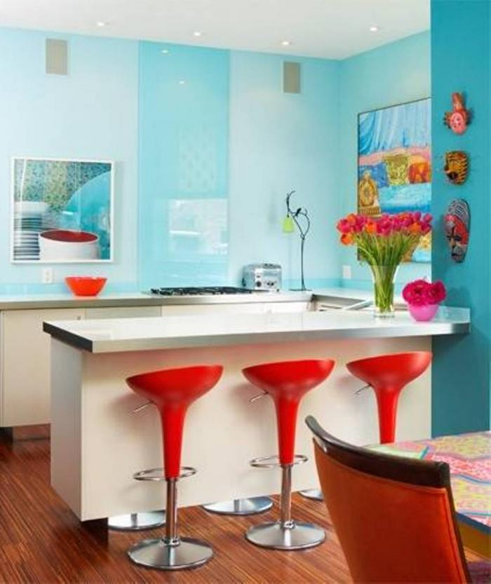colorful kitchen design. Colorful Kitchens - Wall Paint. Image Source Kitchen Design