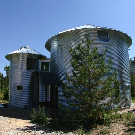 27 amazing homes built from 11 unusual materials build Silo home plans