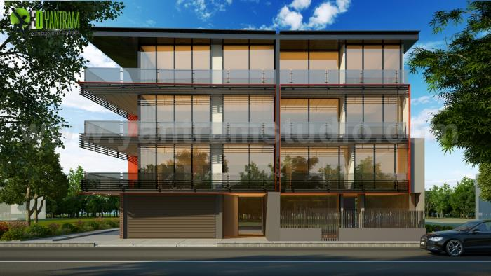 Small Office Front Elevation : Idea posted by yantram studio build